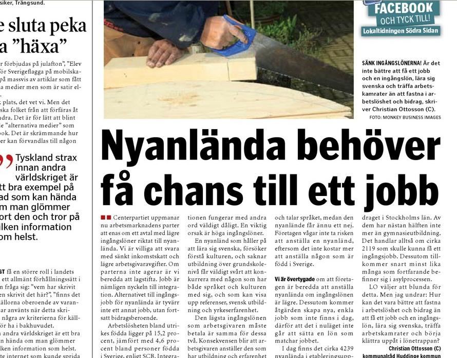 Christian Ottosson jobb för nyanlända