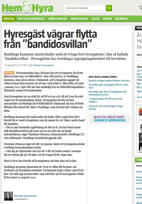 hem och Hyra om Bandidosvillan, intervju med Christian Ottosson