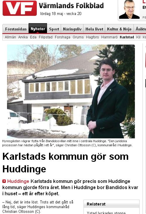 Wermlands Folkblad Karlstad gör som Huddinge, med Christian Ottosson