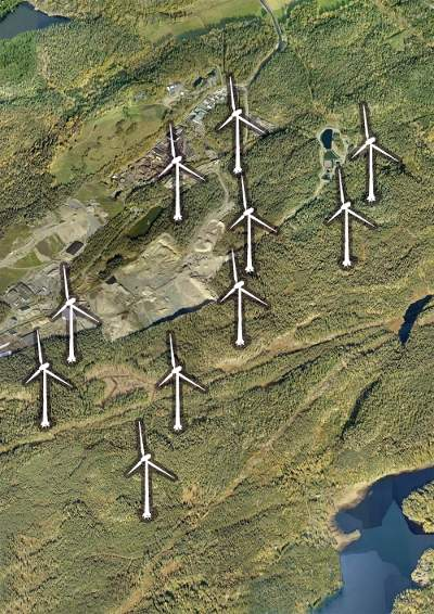 vindkraftpark i Huddinge
